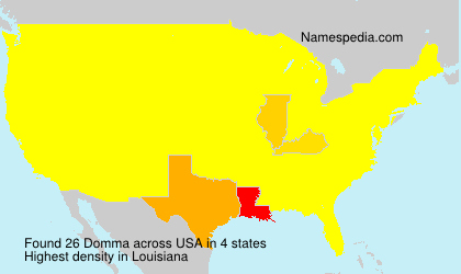 Surname Domma in USA