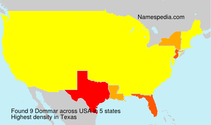 Surname Dommar in USA
