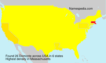 Surname Domonte in USA