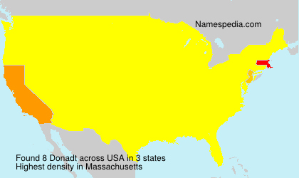 Surname Donadt in USA