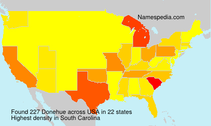Surname Donehue in USA