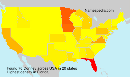 Surname Donney in USA