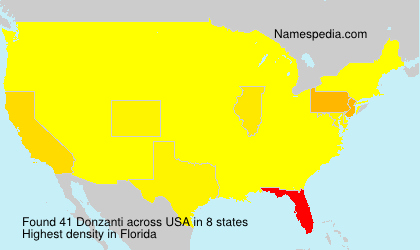 Surname Donzanti in USA