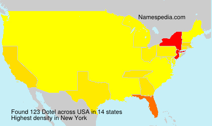 Surname Dotel in USA