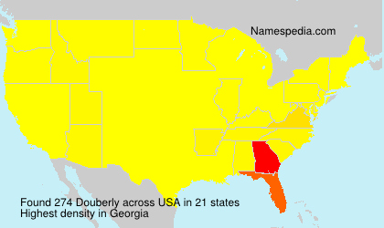 Surname Douberly in USA