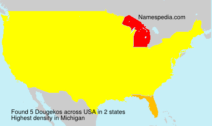 Surname Dougekos in USA