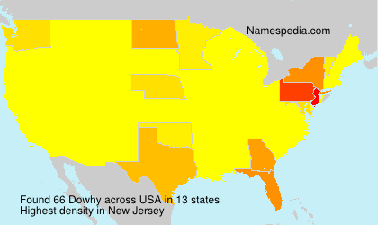 Surname Dowhy in USA