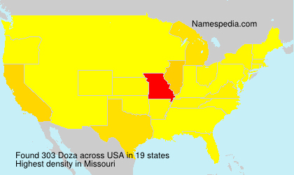 Surname Doza in USA