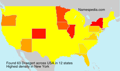 Surname Draegert in USA