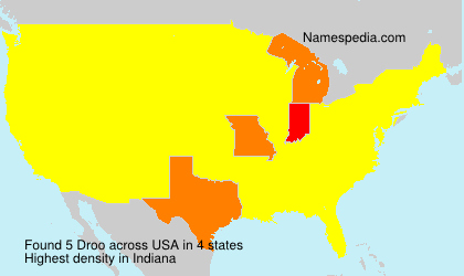 Surname Droo in USA