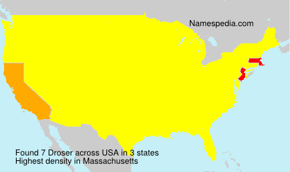 Surname Droser in USA