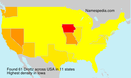 Surname Drottz in USA