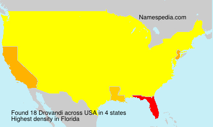 Surname Drovandi in USA