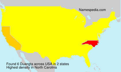 Surname Duangta in USA