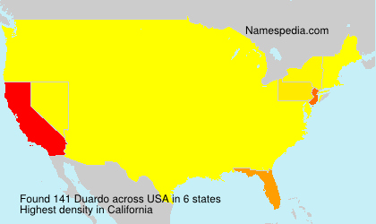 Surname Duardo in USA