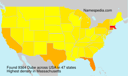Surname Dube in USA