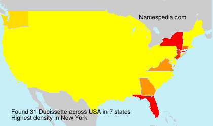 Surname Dubissette in USA