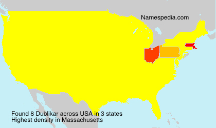 Surname Dublikar in USA