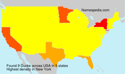Surname Ducke in USA