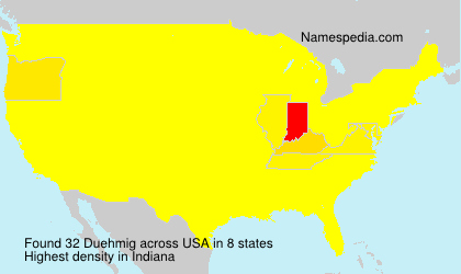 Surname Duehmig in USA