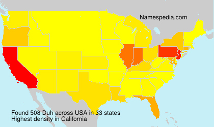 Surname Duh in USA
