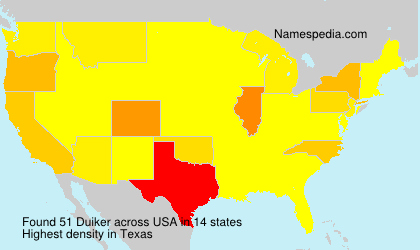 Surname Duiker in USA