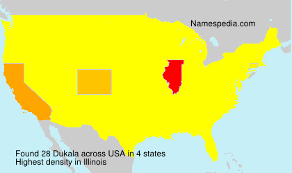 Surname Dukala in USA