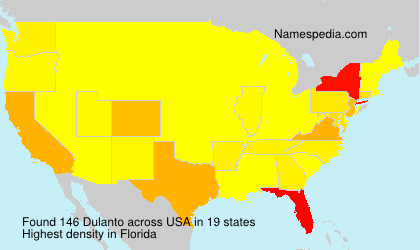 Surname Dulanto in USA