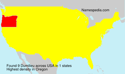 Surname Dumilieu in USA