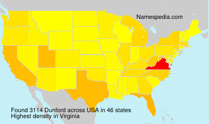 Surname Dunford in USA