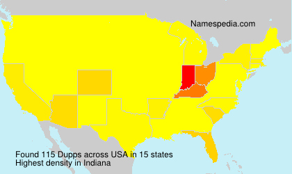 Surname Dupps in USA