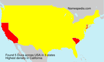 Surname Duza in USA