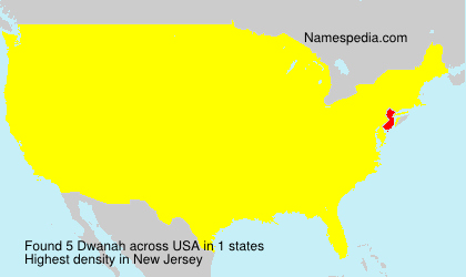 Surname Dwanah in USA