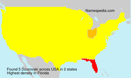 Surname Dzurovski in USA