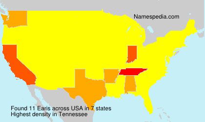 Surname Earis in USA