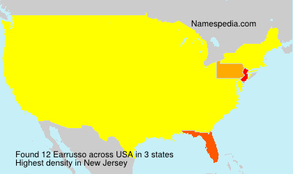 Surname Earrusso in USA