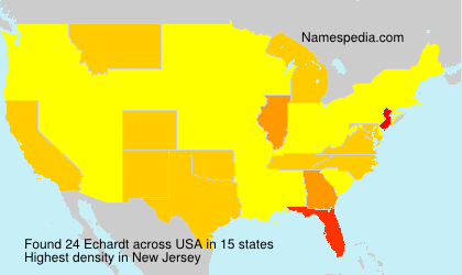 Surname Echardt in USA