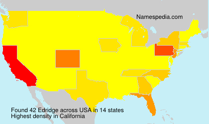 Surname Edridge in USA