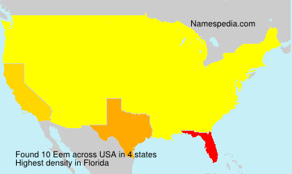 Surname Eem in USA