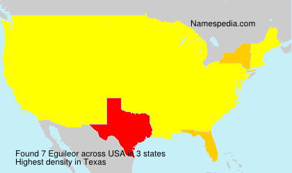 Surname Eguileor in USA