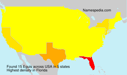 Surname Eguis in USA