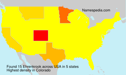 Surname Ehrenkrook in USA
