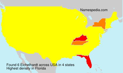 Surname Eichelhardt in USA