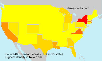 Surname Eisenzopf in USA