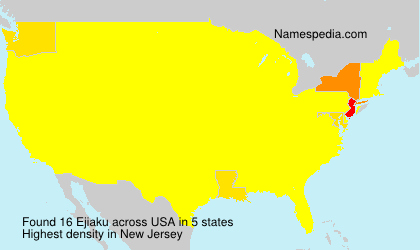 Surname Ejiaku in USA