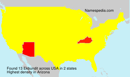 Surname Ekbundit in USA