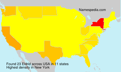Surname Eldrid in USA