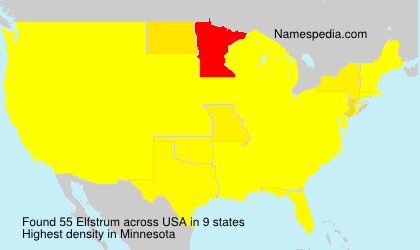 Surname Elfstrum in USA