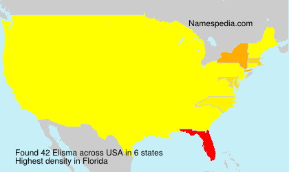 Surname Elisma in USA
