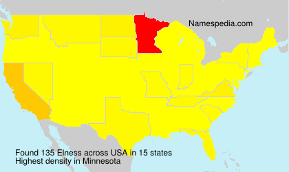 Surname Elness in USA